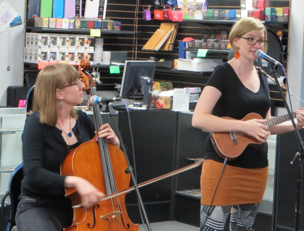 The Doubleclicks perform at Imperial Outpost Games