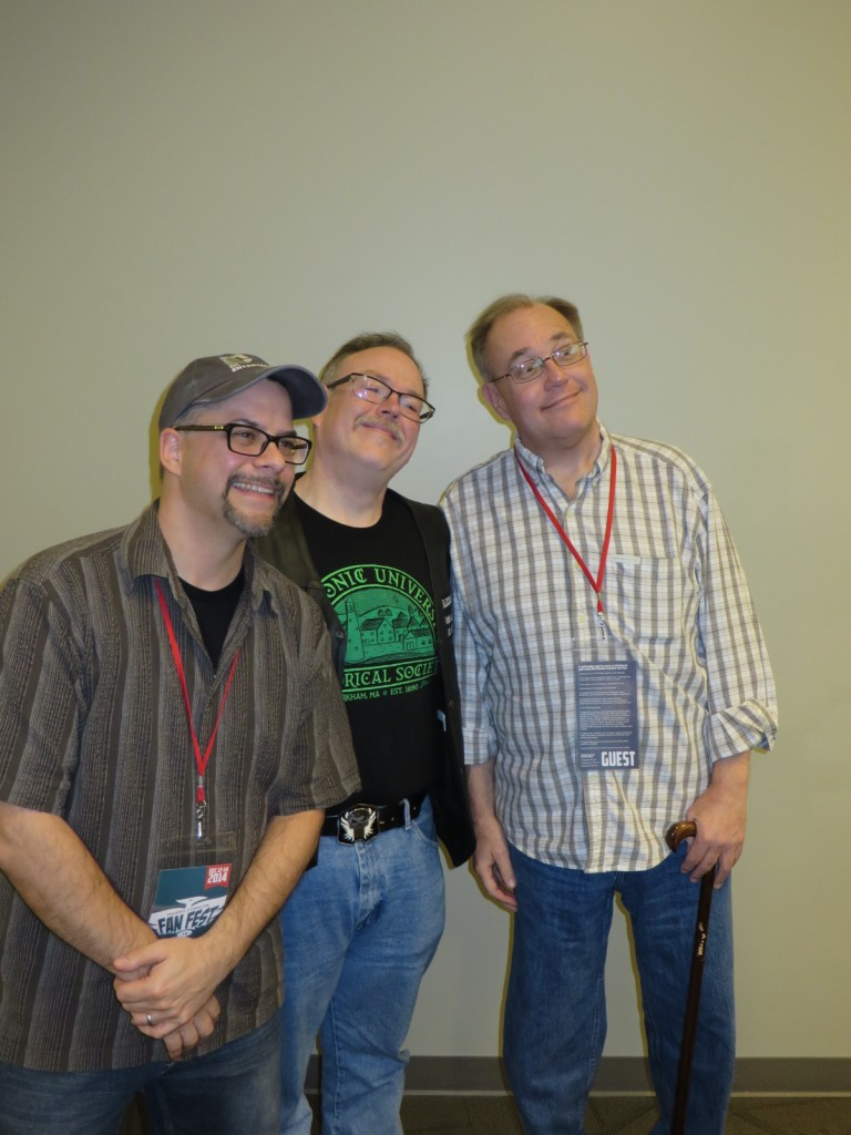 Scott Kollins, Michael Martin, and Brian Augustyn at the scenario panel.